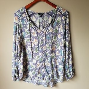Lucky Brand | Floral Blouse Size M